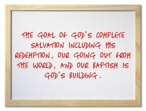Seeing how God's Building is the Goal of His Salvation, Provision, and Revelation
