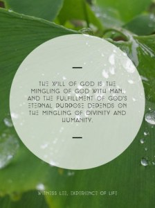 God is Mingling Himself with us to Become our Life for His Corporate Expression