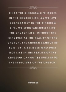 The Gospel Brings forth the Church, and the Kingdom is the Reality of the Church