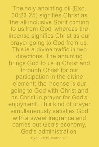 Burning the Incense by Praying in Christ and with Christ as the Incense to God