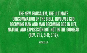 New Jerusalem is a Composition of God's Chosen People who have been Deified by Him