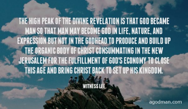 0f83a5e47 The high peak of the divine revelation is that God became man so that man  may