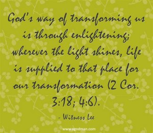 Enjoying the Blessing of Light becoming Life through the Function of the Word of God