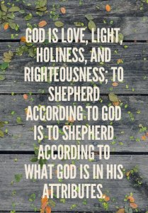 Shepherding According to God by being One with God to Shepherd According what He is