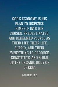 Being those who are Walking in the Truth of the Heavenly Vision of God's Economy