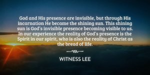 Eating Christ and Displaying Him as the Bread of the Presence to God and His People