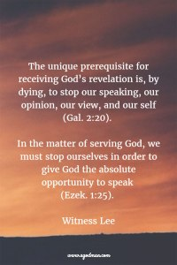 God Wants only our Cooperation: we need to Stop Ourselves and Let God Speak and Work