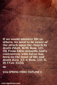 Having the Outflow of Life by being One with Christ in His Life-Releasing Death