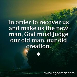 In order to Recover us and Make us the New Man, God must Judge our Old Man Daily