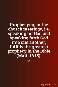 Pray-reading the Word of God, Applying it, and desiring Earnestly to Prophesy