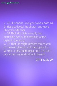 Loving the Lord and being Washed by His Living Word to be the Counterpart of Christ