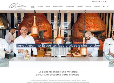 Lo chef pizzaiolo Antonino Esposito sceglie l'Ago Press per il suo sito web