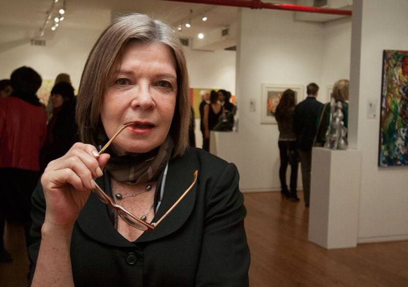 A Woman in Art: Angela Di Bello during one of the exhibitions at Agora Gallery
