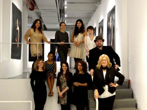 Woman in Art: Angela Di Bello with Agora's team, 2014