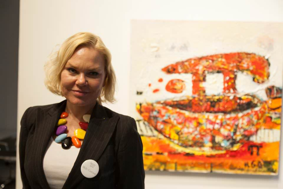Hilde Gustava at the opening reception