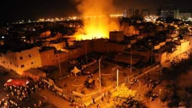 "Photo of بالفيديو: حريق مهول بالمدينة القديمة أتى على المخازن والمنازل بالدار البيضاء و""درب الرماد"" يتحول إلى رماد"