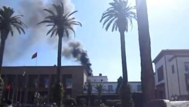 Photo of أول فيديو للحريق الذي شب في البرلمان المغربي