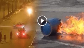 Photo of فيديو: لحظة انفجار قنينة غاز بأحد شوارع البيضاء