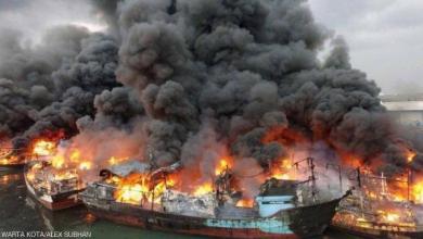 Photo of شرارة لحام واحدة في المكان الخطأ تتسبب في احتراق عشرات السفن