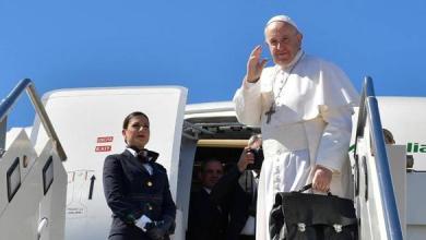 Photo of البابا فرنسيس يغادر مطار روما فيوميتشينو باتجاه المغرب