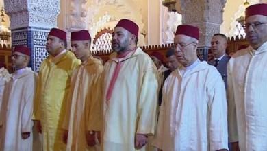 Photo of أمير المؤمنين يؤدي صلاة الجمعة بمسجد حسان بالرباط