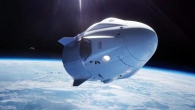 "Photo of احتراق كبسولة فضائية من ""سبيس إكس"" أثناء اختبارها"