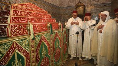 Photo of حفل ديني بضريح مولاي عبد الله بفاس للترحم على أرواح سلاطين وملوك الدولة العلوية