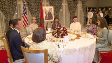 Photo of جلالة الملك يقيم مأدبة عشاء على شرف إيفانكا ترامب