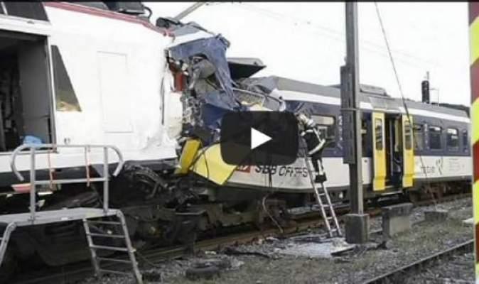 Photo of من جديد اصطدام قطارين في سويسرا