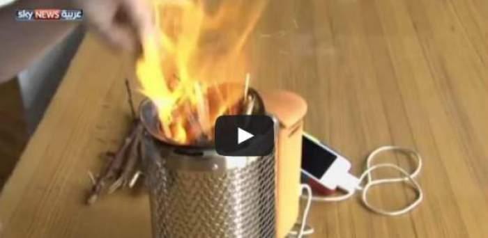 Photo of شاهد كيف يمكنك شحن هاتفك النقال من خلال إحراق الحطب؟!