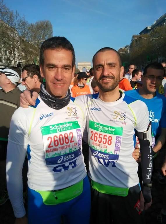 Martino Pugliese e Rosario Barone Maratona di Parigi