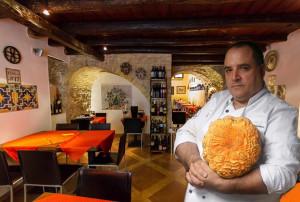 BENEDETTO PRIOLO PIATTO MICHELIN Taverna del Pavone Monreale