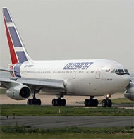 Cubana commercial airliner