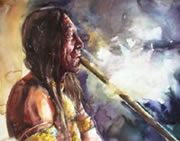 First Nations used the Tobacco in Peace Pipe to re-affirm our vital spiritual interconnectedness