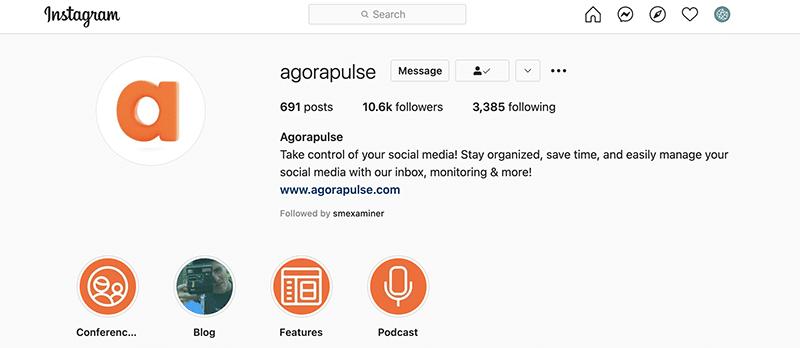 Instagram bio - Agorapulse