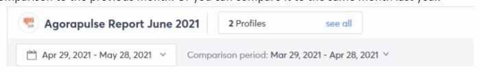 comparison period for social media reports