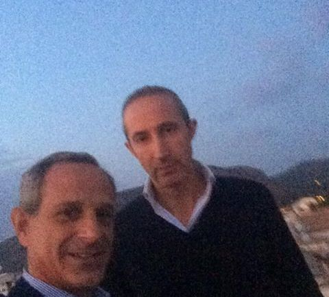 Francesco Giro, senatore di FI, a Sperlonga per visitare Armando Cusani