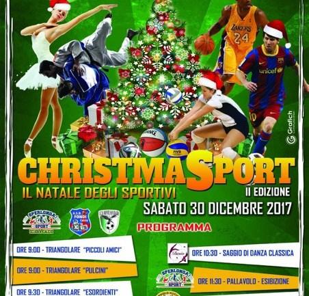 """Sperlonga. Oggi dalle 9 alle 17 """"Christmasport, la festa degli sportivi"""""""