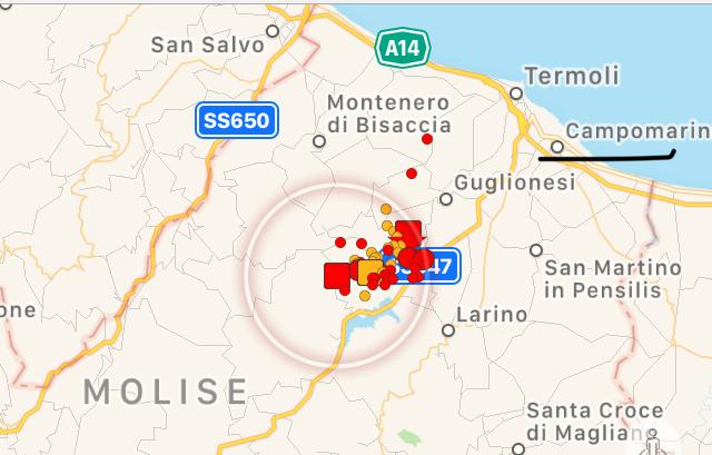 Il terremoto di Campobasso avvertito anche in provincia di Latina