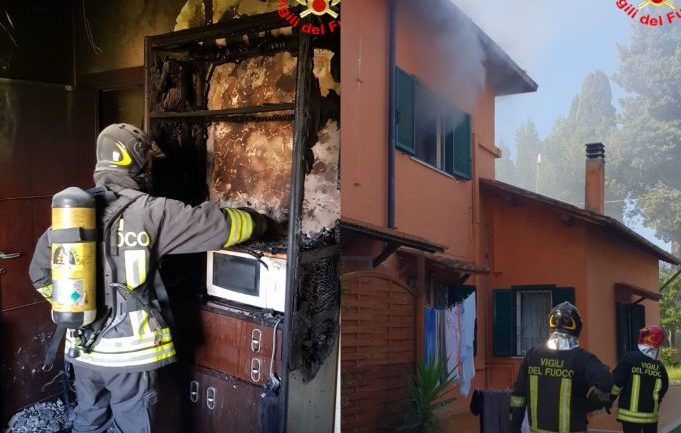 Aprilia. Cucina in fiamme, intervengono i Pompieri