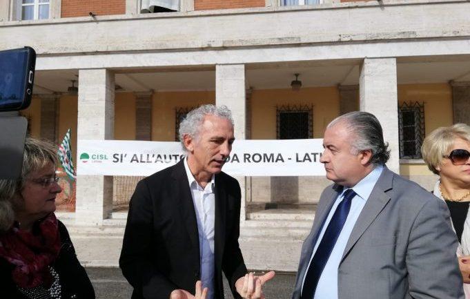 Roma – Latina: la Cisl in presidio sotto il Comune di Coletta