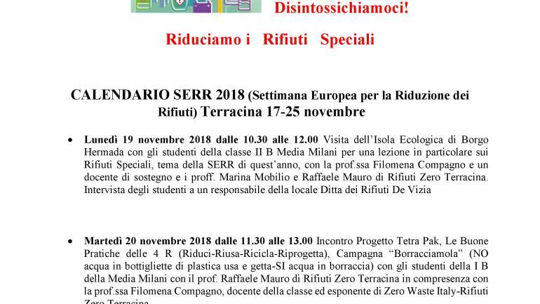 Terracina. Il 19 e 20 novembre la Settimana Europea per la Riduzione dei Rifiuti
