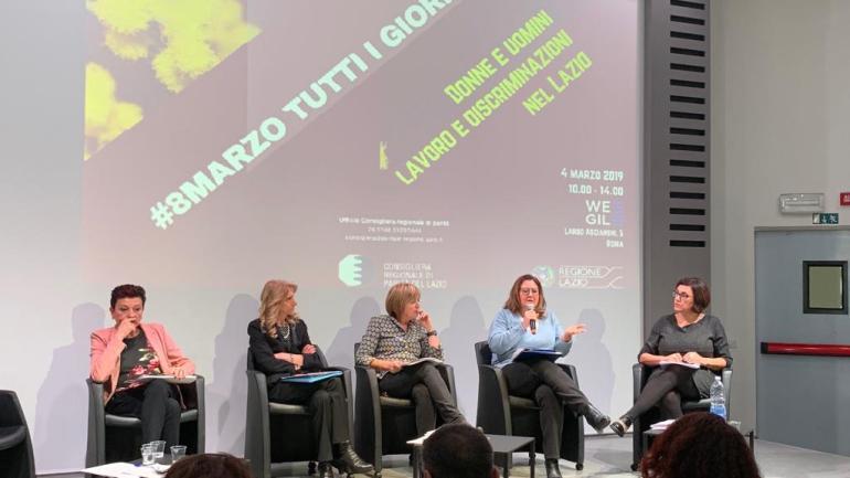 Donne e uomini, lavoro e discriminazioni nel Lazio