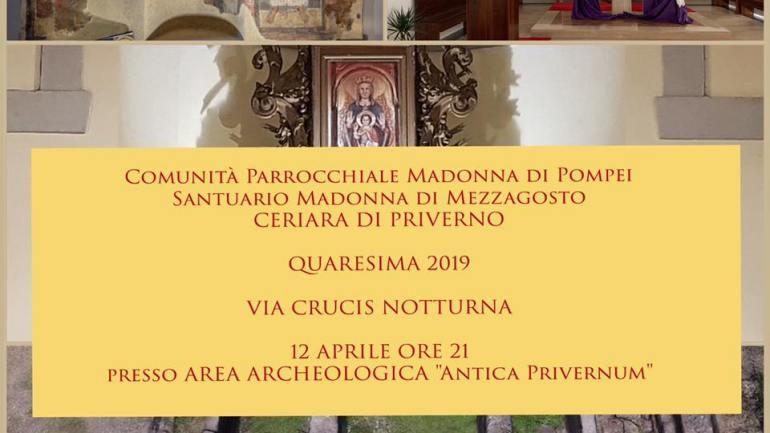 Venerdì 12 aprile la Passione si celebra nell'Area Archeologica Privernum.