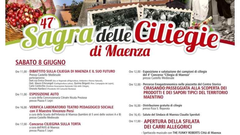 """Maenza a Vignola (MO) per la 15° festa nazionale """"Città delle ciliegie"""""""