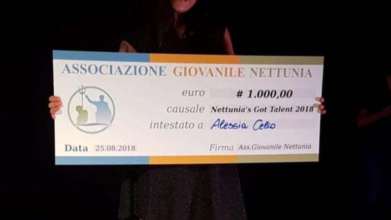"""Alessia Celio, vincitrice del """"Nettunia's Got Talent"""" 2019"""