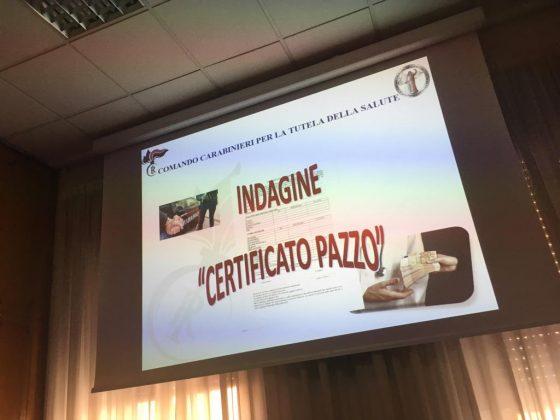 """Latina.  """"Indagine certificato pazzo, arresti e denunce di massa"""""""