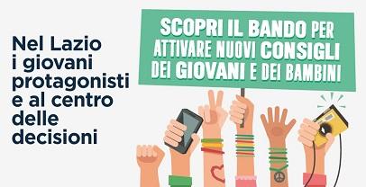 Regione Lazio, Consigli dei giovani e dei bambini:il nuovo bando