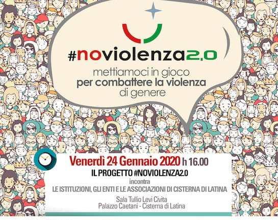 """Cisterna di Latina e il progetto """"NoViolenza2.0"""""""