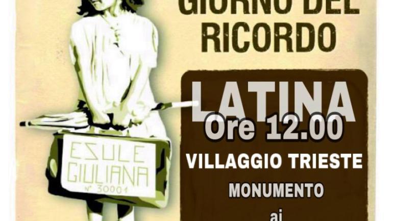 *Giornata del Ricordo, la Lega di Latina domani deporrà a Villaggio Trieste una corona di fiori in onore dei martiri delle Foibe*